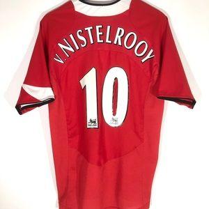 👺 Vintage Nike Man U #10 v.Nistelrooy 04/05 Kit